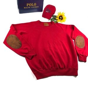 Polo Ralph Lauren sweater leather elbow patch